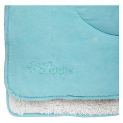 Cuddleco Kocyk Dziecięcy Comfi-Cuddle 140X100 Cm, Tiffany Blue. Niebieskie kocyki dla dzieci Cuddleco, z zamszu. Za 139.00 zł.