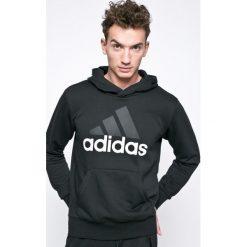 Adidas Performance - Bluza Essentials Linear. Czarne bluzy męskie adidas Performance, z nadrukiem, z bawełny. Za 249.90 zł.
