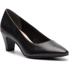 Półbuty TAMARIS - 1-22473-30 Black Leather 003. Czarne półbuty damskie Tamaris, z materiału, eleganckie. W wyprzedaży za 179.00 zł.