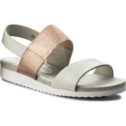 Sandały CAPRICE - 9-28608-20 White/Rosegold 118. Białe sandały damskie Caprice, z materiału. W wyprzedaży za 169.00 zł.