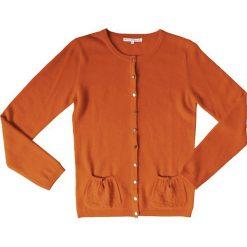 Kardigan kaszmirowy w kolorze pomarańczowo-czerwonym. Brązowe kardigany damskie Ateliers de la Maille, z kaszmiru. W wyprzedaży za 363.95 zł.