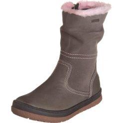 Skórzane kozaki zimowe w kolorze szarym. Buty zimowe dziewczęce Zimowe obuwie dla dzieci. W wyprzedaży za 155.95 zł.