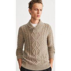 Sweter z domieszką wełny - Beżowy. Swetry przez głowę męskie marki Giacomo Conti. W wyprzedaży za 99.99 zł.