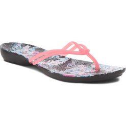 Japonki CROCS - Isabella Graphic Flip W 204196 Paradise Pink/Tropical Floral. Czerwone klapki damskie Crocs, z tworzywa sztucznego. Za 129.00 zł.