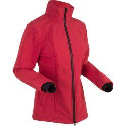 Kurtka softshell bonprix ciemnoczerwony. Czerwone kurtki damskie bonprix, z softshellu. Za 79.99 zł.