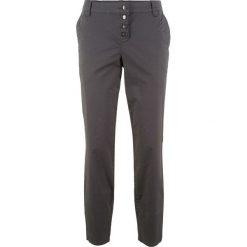 Spodnie chino Boyfriend bonprix szary. Szare spodnie materiałowe damskie bonprix. Za 109.99 zł.