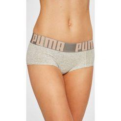 Puma - Figi (2-pack). Brązowe figi damskie Puma, z bawełny. W wyprzedaży za 69.90 zł.