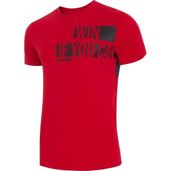 0fe70f6dd 4f T-Shirt męski H4L18-TSM019 61S czerwony r. XXXL - T-shirty męskie ...