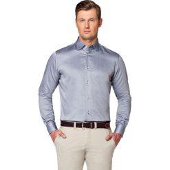 Koszula Grafitowa Owen. Szare koszule męskie LANCERTO, z bawełny. W wyprzedaży za 149.90 zł.
