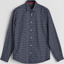 Koszula z motywem świątecznym - Granatowy. Niebieskie koszule męskie Reserved. Za 59.99 zł.