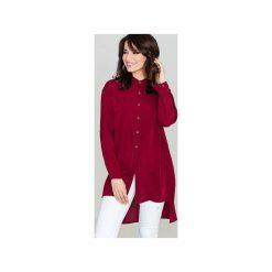 Koszula K293 Bordo. Czerwone koszule damskie Lenitif, z materiału, klasyczne, z klasycznym kołnierzykiem. Za 119.00 zł.