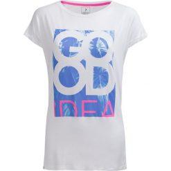 T-shirt damski TSD613 - biały - Outhorn. Białe t-shirty damskie Outhorn, z nadrukiem, z materiału. W wyprzedaży za 29.99 zł.