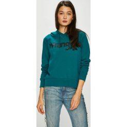 Wrangler - Bluza. Szare bluzy damskie Wrangler, z nadrukiem, z bawełny. Za 219.90 zł.