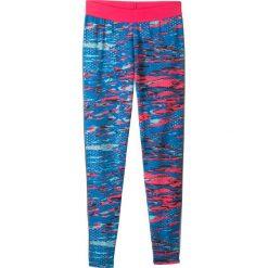 Legginsy sportowe z kieszonką z zamkiem bonprix różowo-morski. Legginsy dla dziewczynek bonprix, z materiału. Za 44.99 zł.