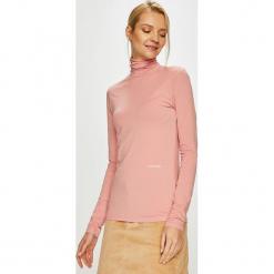 Calvin Klein - Bluzka. Różowe bluzki damskie Calvin Klein, z bawełny, casualowe, z golfem. Za 269.90 zł.