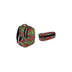 Plecak + saszetka St.Right Flamingi. Brązowe torby i plecaki dziecięce St-Majewski, z gumy. Za 148.00 zł.