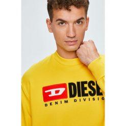Diesel - Bluza. Żółte bluzy męskie Diesel, z aplikacjami, z bawełny. Za 569.90 zł.