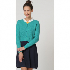 Sweter w kolorze turkusowym. Niebieskie swetry damskie TrakaBarraka. W wyprzedaży za 79.95 zł.