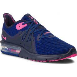 Buty NIKE - Air Max Sequent 3 908993 403 Obsidian/Pink Blast. Niebieskie obuwie sportowe damskie Nike, z materiału. W wyprzedaży za 329.00 zł.