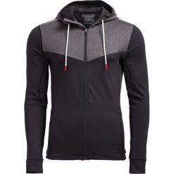 Bluza treningowa męska BLMF600 - CZARNY - Outhorn. Czarne bluzy męskie Outhorn, na jesień, z materiału. W wyprzedaży za 83.99 zł.