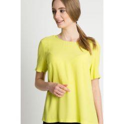 Żółta bluzka z krótkim rękawem BIALCON. Żółte bluzki damskie BIALCON, z dzianiny, wizytowe, z krótkim rękawem. Za 155.00 zł.