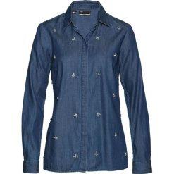 """Koszula dżinsowa z połyskującymi kamieniami bonprix niebieski """"stone"""". Koszule damskie marki SOLOGNAC. Za 59.99 zł."""