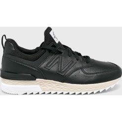 New Balance - Buty MS574LSB. Brązowe buty sportowe męskie New Balance, z materiału. W wyprzedaży za 469.90 zł.