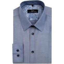 Koszula MICHELE KDSE000045. Niebieskie koszule męskie Giacomo Conti, w geometryczne wzory, z bawełny, z klasycznym kołnierzykiem. Za 149.00 zł.