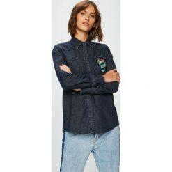 Trussardi Jeans - Koszula. Szare koszule damskie TRUSSARDI JEANS, z bawełny, z długim rękawem. Za 499.90 zł.