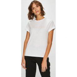 Calvin Klein Underwear - Top. Szare topy damskie Calvin Klein Jeans, z nadrukiem, z bawełny, z okrągłym kołnierzem, z krótkim rękawem. Za 159.90 zł.