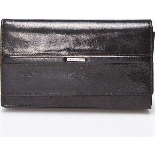78a90e85b3195 Samsonite - Portfel skórzany - Czarne portfele damskie marki ...