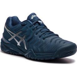 Buty ASICS - Gel-Resolution Novak E805N Peacoat/Silver 400. Niebieskie buty sportowe męskie Asics, z materiału. W wyprzedaży za 449.00 zł.