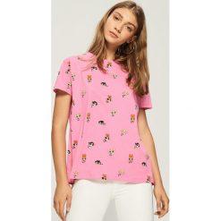T-shirt Atomówki - Różowy. Czerwone t-shirty damskie Sinsay. W wyprzedaży za 29.99 zł.