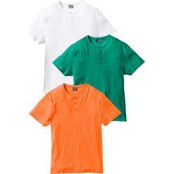 T-shirt (3 szt.) bonprix pomarańczowy + zielony miętowy + biały. Białe t-shirty męskie bonprix. Za 98.97 zł.