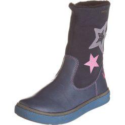 Skórzane kozaki zimowe w kolorze niebieskim. Buty zimowe dziewczęce Zimowe obuwie dla dzieci. W wyprzedaży za 155.95 zł.