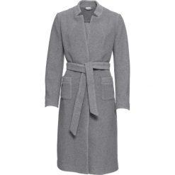 Płaszcz z paskiem, bez podszewki bonprix szary melanż. Płaszcze damskie marki FOUGANZA. Za 269.99 zł.