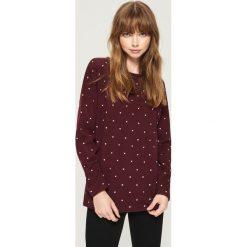 Dzianinowy sweter - Fioletowy. Fioletowe swetry damskie Sinsay, z dzianiny. Za 49.99 zł.