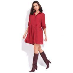 Fille Du Couturier Sukienka Damska Oriane 38 Czerwony. Czerwone sukienki damskie Fille Du Couturier, z koszulowym kołnierzykiem. Za 209.00 zł.