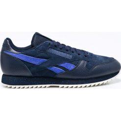 Reebok Classic - Buty Cl Lthr Ripple Sm. Niebieskie buty sportowe męskie Reebok Classic, z materiału. W wyprzedaży za 279.90 zł.