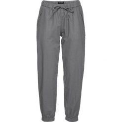 Spodnie lniane 7/8 bonprix srebrnoszary. Spodnie materiałowe damskie marki DOMYOS. Za 109.99 zł.