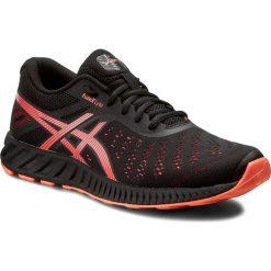 Buty ASICS - FuzeX Lyte T670N Black/Flash Coral/Onyx 9006. Czarne obuwie sportowe damskie Asics, z materiału. W wyprzedaży za 239.00 zł.