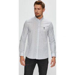 U.S. Polo - Koszula. Szare koszule męskie U.S. Polo, z bawełny, button down, z długim rękawem. W wyprzedaży za 279.90 zł.