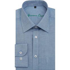 Koszula SIMONE3D KDNR000105. Niebieskie koszule męskie Giacomo Conti, z bawełny, z klasycznym kołnierzykiem, z długim rękawem. Za 199.00 zł.