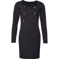 Sukienka biznesowa bonprix czarny. Czarne sukienki damskie bonprix, biznesowe, z dekoltem karo. Za 119.99 zł.