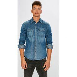 Pepe Jeans - Koszula. Szare koszule męskie Pepe Jeans, z bawełny, z klasycznym kołnierzykiem, z długim rękawem. W wyprzedaży za 229.90 zł.