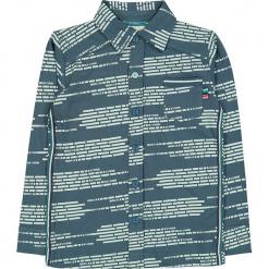 """Koszula """"Write Me Again"""" w kolorze morskim. Niebieskie koszule dla chłopców marki 4FunkyFlavours Kids, z klasycznym kołnierzykiem. W wyprzedaży za 102.95 zł."""