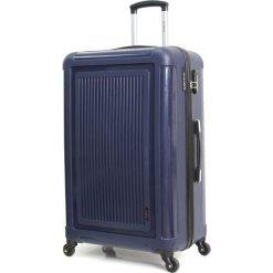 """Walizka """"Pretoria"""" w kolorze granatowym - 50 x 34 x 23 cm. Walizki damskie BlueStar, z tworzywa sztucznego. W wyprzedaży za 152.95 zł."""