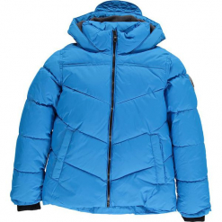 Kurtka zimowa w kolorze błękitnym. Niebieskie kurtki i płaszcze dla chłopców marki CMP Kids, na zimę, z polaru. W wyprzedaży za 175.95 zł.