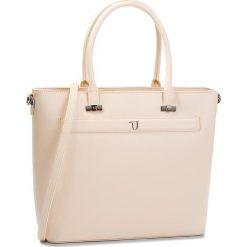 Torebka TRUSSARDI JEANS - Paprica 75B00558 W050. Brązowe torebki do ręki damskie TRUSSARDI JEANS, z jeansu. W wyprzedaży za 479.00 zł.