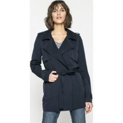 Vero Moda - Płaszcz. Czarne płaszcze damskie Vero Moda, w paski, z elastanu, klasyczne. W wyprzedaży za 89.90 zł.